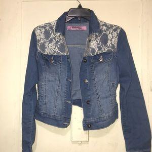 Freestyle laced denim jacket